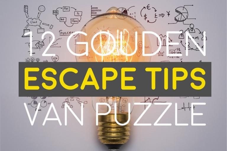 12 gouden escape tips van Puzzle